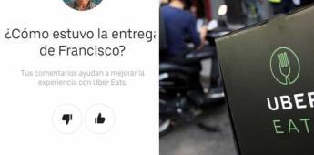 Francisco, el repartidor de UberEats que hace sus entregas a pie