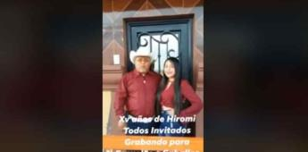 Como Rubí, quinceañera hace invitación a celebrar en Tamaulipas