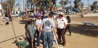 Concluyen rehabilitación del parque en San Quintín