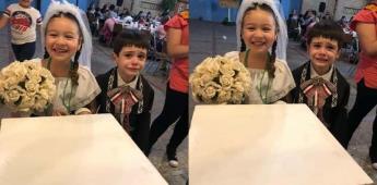 Contraste de reacciones de niños en boda de kermesse se vuelve viral
