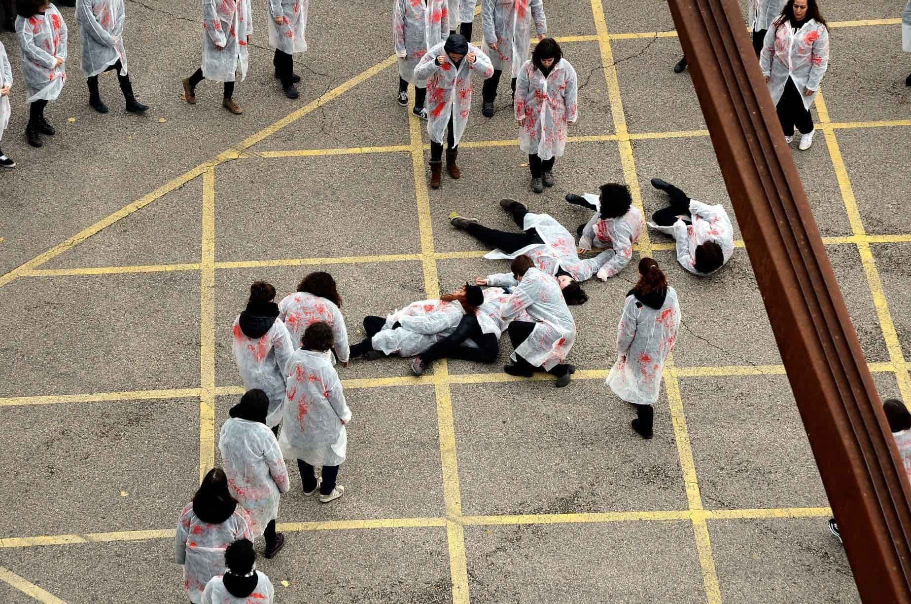 En Guadalajara (España) representaron cada una de las víctimas asesinadas por la violencia machista