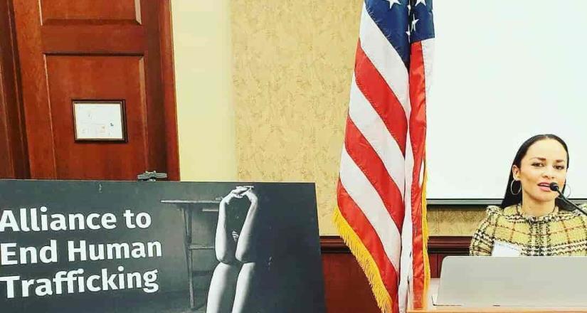 Edith Encalada hace un llamado al Presidente de México desde el Capitolio en Washington D.C.