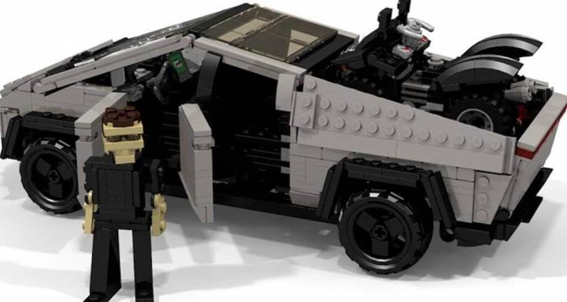 Lego bromea respecto a la pick-up de Tesla