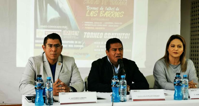 Anuncia Imdet torneo de futbol Los Barrios