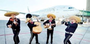 CDMX da la bienvenida a primer vuelo de Emirates