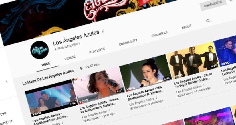 Los Ángeles Azules reinan en YouTube sus videos suman más de 5 billones de views