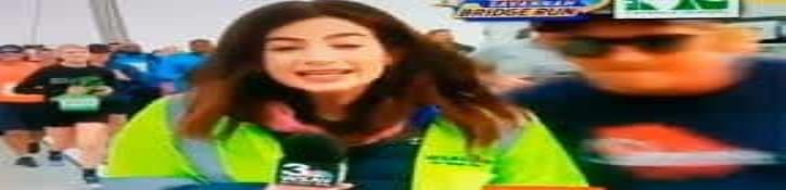 Manosean a reportera en plena transmisión de maratón