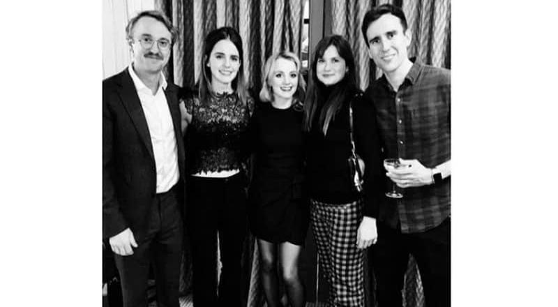 Elenco de Harry Potter se reúnen para festejar navidad