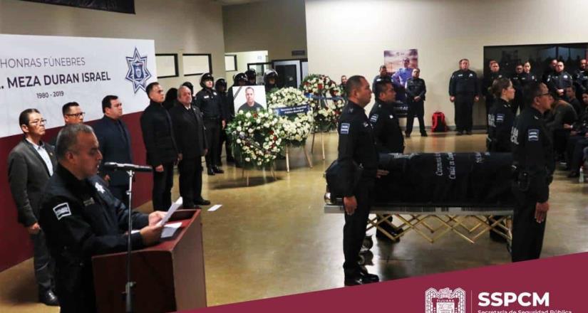 Se realizaron honras fúnebres al oficial Israel Meza Durán