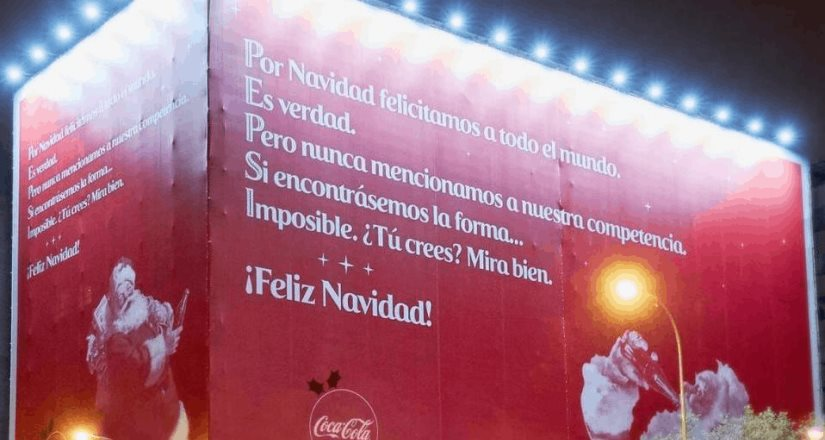 Coca Cola lanza publicidad deseando feliz navidad a su competencia