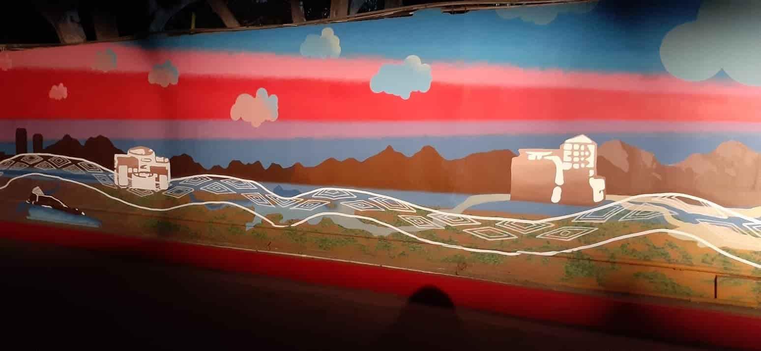 Revelan el mural Maija Awi: La Serpiente del Agua en las instalaciones de la CESPT