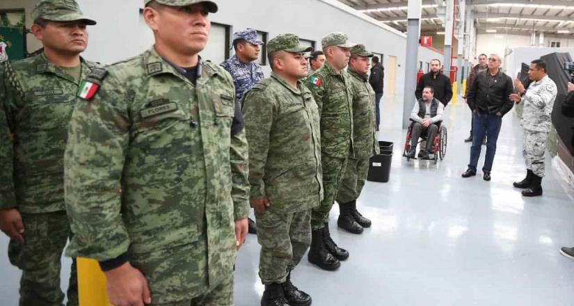 Gobernador Jaime Bonilla comprueba avances del cuartel de la G.N. en Tijuana