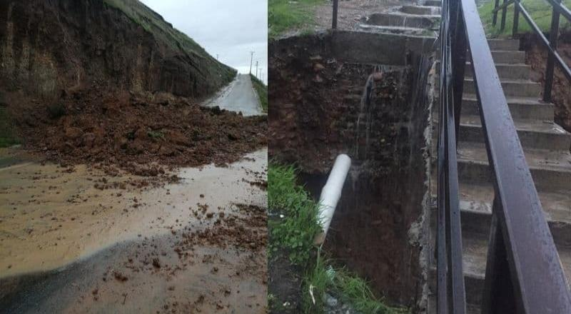 Reporte de daños y derrumbes por las lluvias de esta mañana