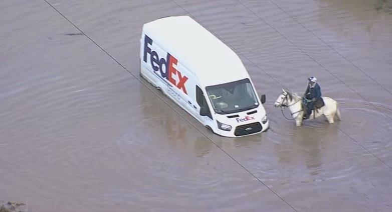 También en San Diego causó problemas la tormenta