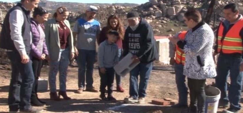 En Tecate, apoyo para la reconstrucción de casas en El Mirador