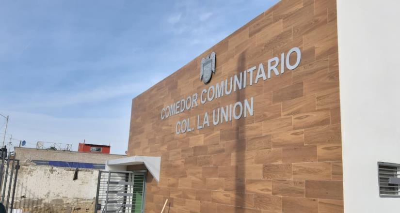Rehabilita Ayuntamiento comedor comunitario de la colonia La Unión