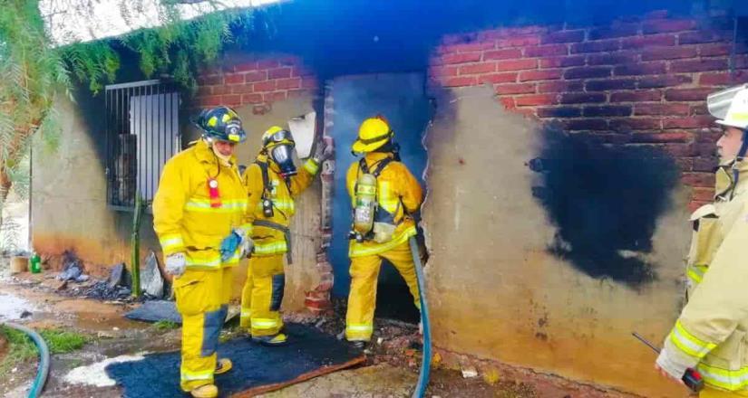 Bomberos atienden reporte de incendio