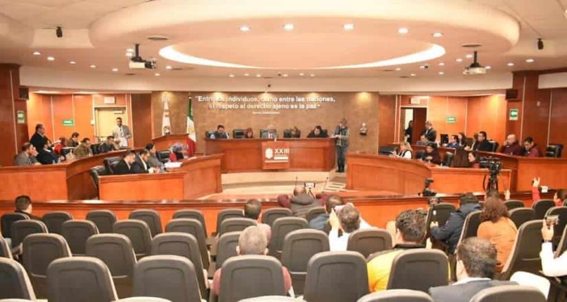 Aprueba el congreso Ley de Ingresos a los cinco municipios del estado