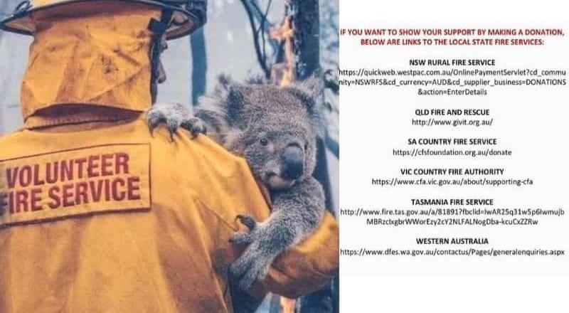 Donan medio millón de dólares para combatir incendios en Australia