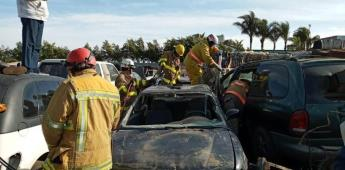 Preparan a rescatistas con prácticas de extracción vehicular
