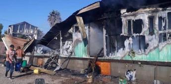 Incendio consume vivienda en el ejido Nuevo Odisea