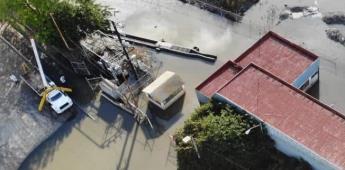 Inicia rehabilitación de planta de bombeo afectada por inundación en Cañón del matadero