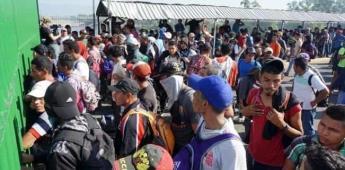 Migrantes dan plazo de 3 horas para que les den paso libre a México