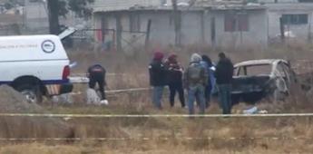 Hallan 5 cuerpos calcinados en auto en San Lorenzo Almecatla