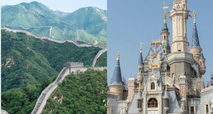 Cerrarán la Gran Muralla China y Disney de Shanghái para evitar contagios de coronavirus