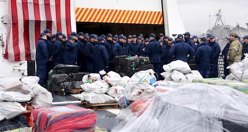 Entrega 20 mil libras de cocaína en San Diego la guardia costera