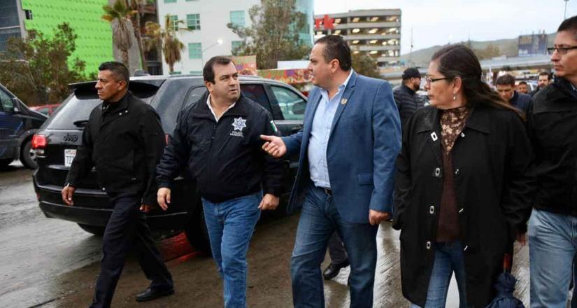Realiza Ayuntamiento de Tijuana operativo conjunto en la garita de San Ysidro