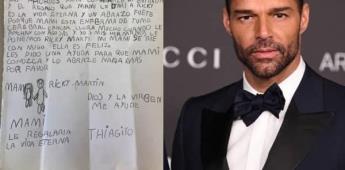 Niño de 8 años envía una carta pidiendo que su madre enferma conozca a Ricky Martin