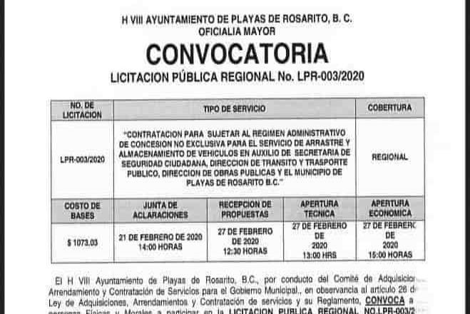 NO.LPR-003/2020 CONTRATACIÓN PARA SUJETAR AL REGIMEN ADMINISTRATIVO DE CONCESIÓN NO EXCLUSIVA