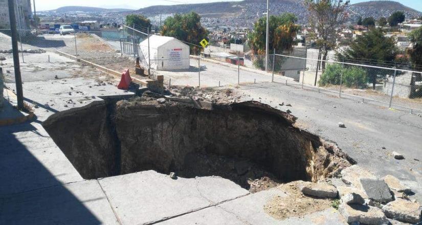 Socavón de 40 metros de profundidad cumplirá 5 años en Pachuca