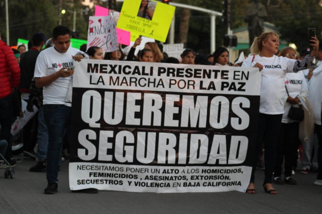 Ni una más, Ni una menos mujeres marcharon en Tijuana para exigir justicia