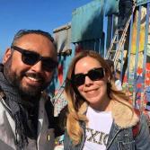 Con el corazón para México en el Mural de la Hermandad por Enrique Chiu