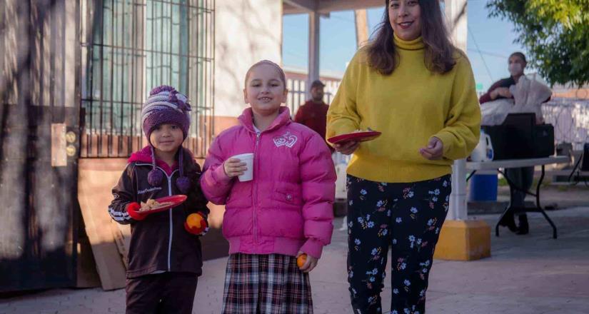 Autoridades educativas de Tecate visitan primaria, beneficiada con desayunos escolares