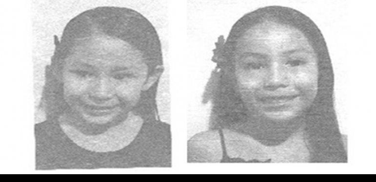 Activan Alerta Amber para localizar a hermanas de 7 y 9 años