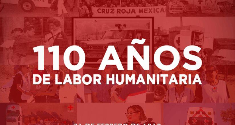 Cruz Roja Mexicana celebra 110 años de su fundación