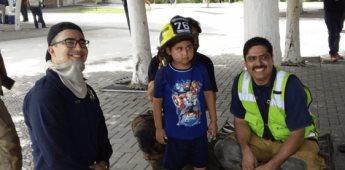 Niño cumple su sueño de ser bombero por un día