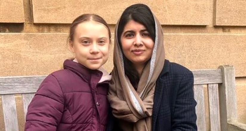 Greta Thunberg finalmente conoció a su modelo a seguir, Malala Yousafzai