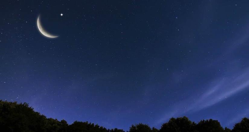 Venus y la Luna se besarán esta noche en evento astronómico