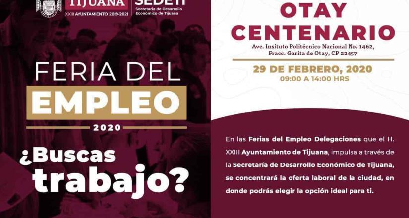 Invita Ayuntamiento de Tijuana a la primer Feria de Empleo Delegacional