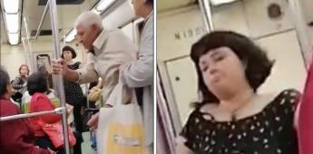 Mujer pide que persona de la tercera edad baje de un vagón exclusivo para mujeres