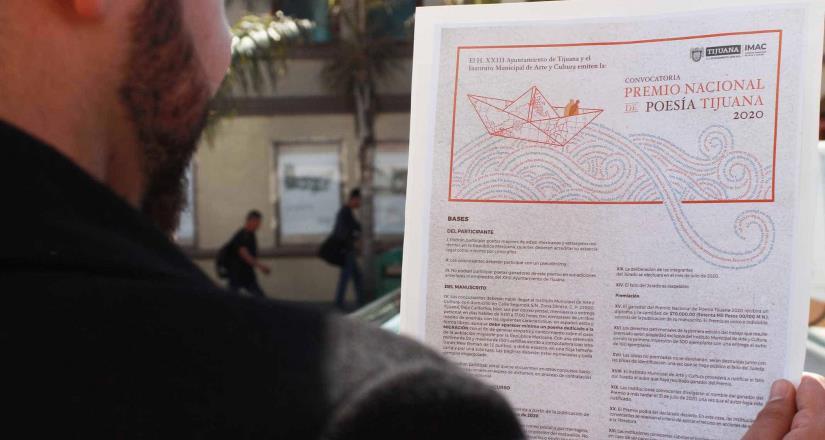IMAC abre convocatoria para Premio Nacional de Poesía Tijuana 2020