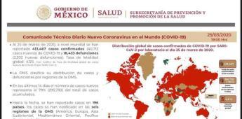 La Subsecretaría de Prevención y Promoción de la Salud emite informe acerca del COVID-19