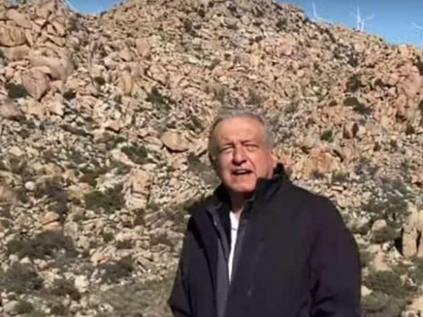 VIDEO, AMLO en la Rumorosa, Tecate