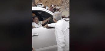 AMLO saluda a la madre del Chapo Guzmán