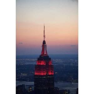El Empire State se ilumina en agradecimiento a los médicos y enfermeros