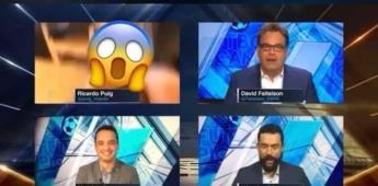 Ricardo Puig de ESPN sufre accidente penoso mientras hace Home Office en Fútbol Picante VIDEO